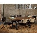 Avalon Furniture Circa 7-Piece Dining Table Set - Item Number: D02015-DT67+6x44