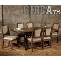 Avalon Furniture Circa 7-Piece Dining Table Set - Item Number: D02015-DT67+6xDC05