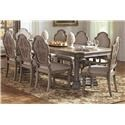 Avalon Furniture Tuscany Dining Table, 6 Side Chairs and 2 Arms Chair - Item Number: GRP-B00098-TUSCANY-TBL8