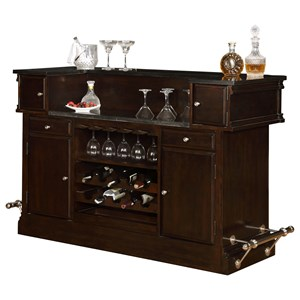 Avalon Furniture Dundee Place 2 Drawer Bar with Granite Top