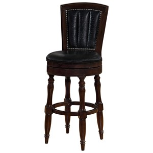 Avalon Furniture Dundee Place Bar Stool with Upholstered Seat