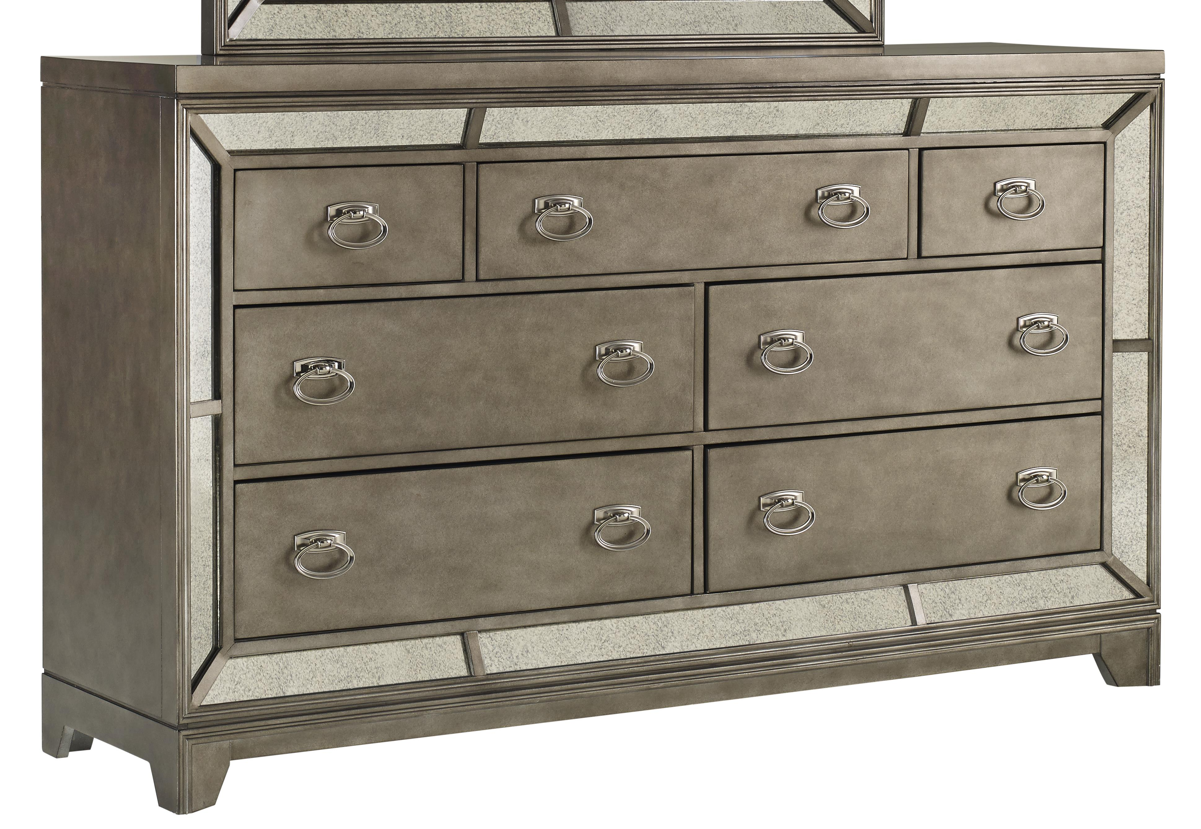 7 Drawer Dresser With Felt Lined Top Drawers Lenox By