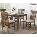 VFM Signature Mill Road 5 Piece Table and Chair Set  - Item Number: D00131 DT5PC