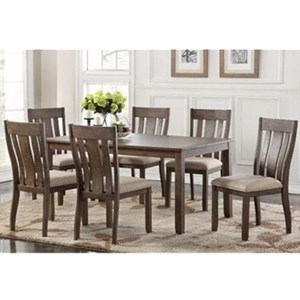 Avalon Furniture Mill Road 7-Piece Table and Chair Set