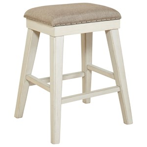 Avalon Furniture Mystic Cay Barstool with Upholstered Seat
