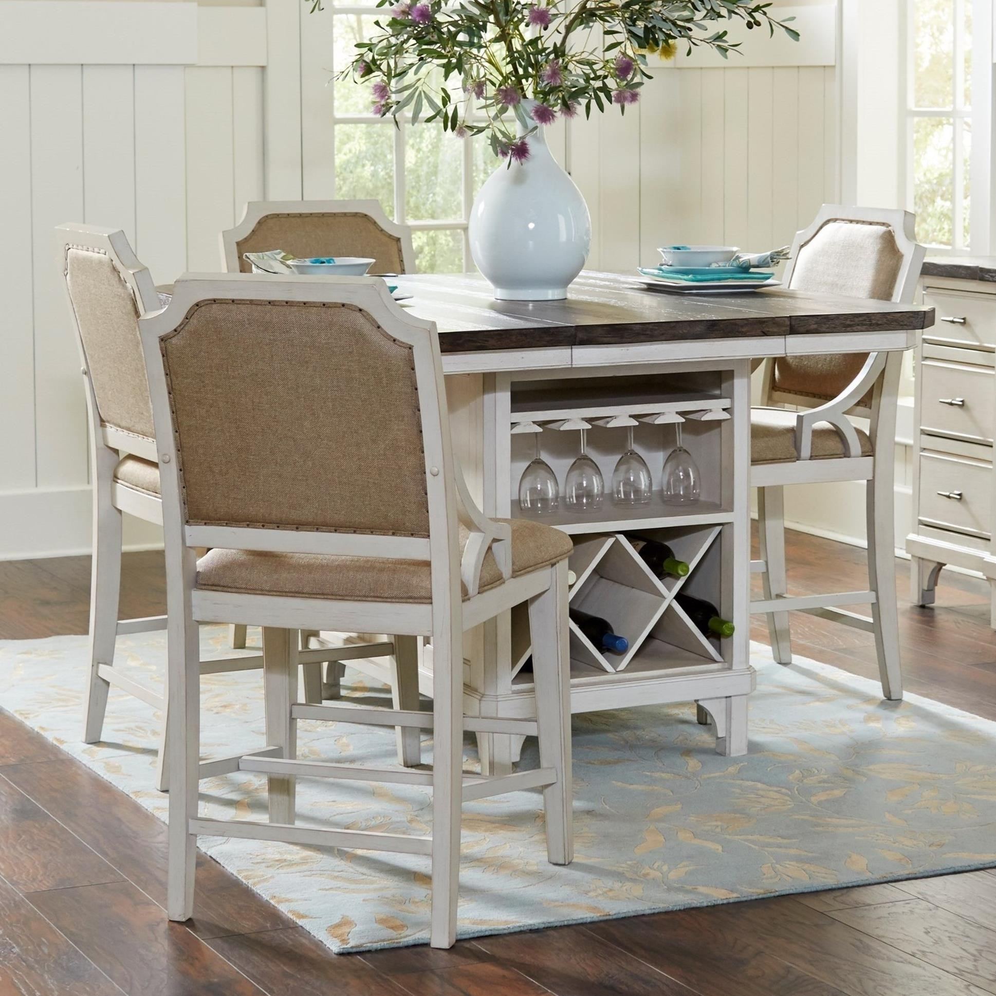 kitchen island table with 4 chairs avalon furniture mystic cay 5 piece kitchen island table set wilcox furniture pub table and 7461