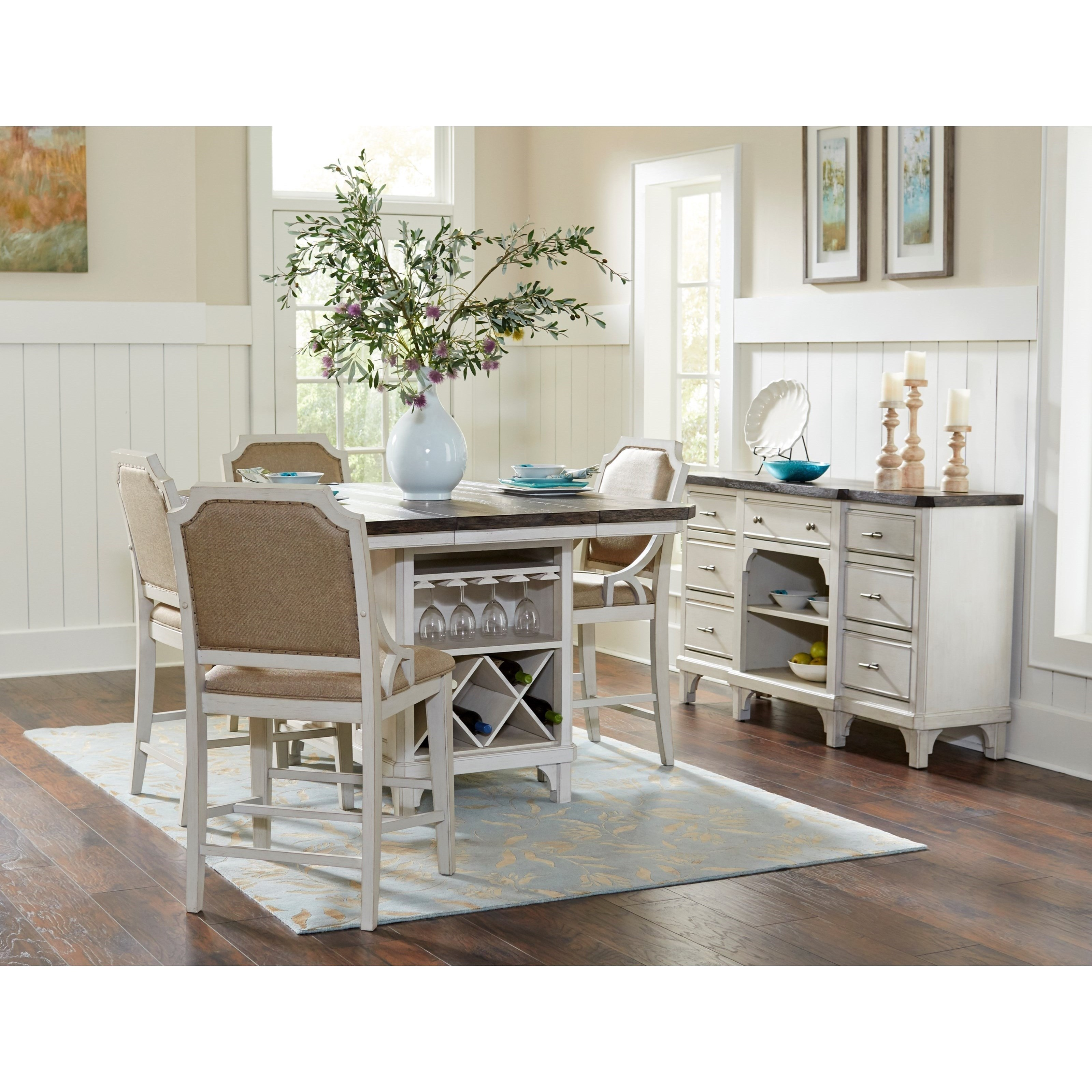 Kitchen Island Furniture Piece: Avalon Furniture Mystic Cay 5-Piece Kitchen Island Table