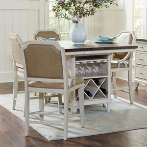 Avalon Furniture Mystic Cay 5-Piece Kitchen Island Table Set