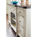 Avalon Furniture Mystic Cay 7 Drawer Sideboard with Adjustable Shelf