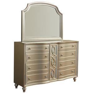 Avalon Furniture Regency Park Dresser and Mirror