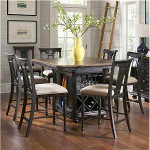 Avalon Furniture Rivington Hall 7-Piece Kitchen Island Table Set