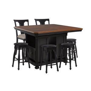 Avalon Furniture Rivington Hall Kitchen Island, 4 Backless Stools & 2 Gather