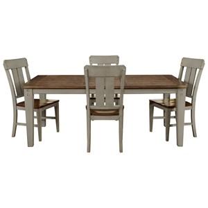 Avalon Furniture Shaker Nouveau 5-Piece Dining Table Set