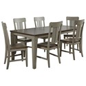 Avalon Furniture Shaker Nouveau 7-Piece Dining Table Set - Item Number: D00033 DT+6xSC