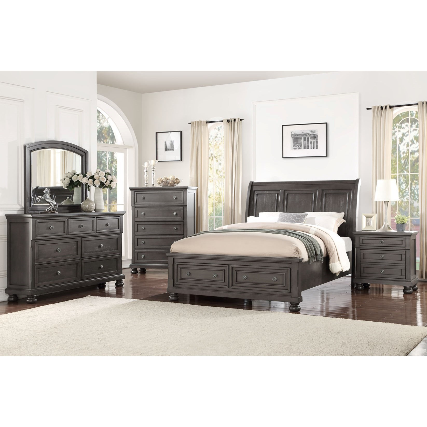 Avalon Furniture Sophia B01061 Queen Bedroom Group Item Number Q 1