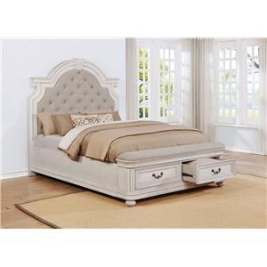 Queen Upholstery Storage Bed