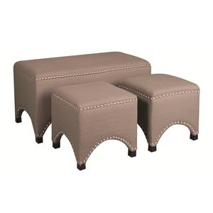 Morris Home Furnishings Casey 3-Piece Ottoman Package
