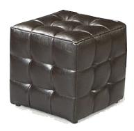 Avanti Accent Ottomans Contemporary Small Tufted Cube Ottoman