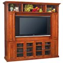 Baker Road Home Theater Furniture Shaker TV Console - Shown with Hutch