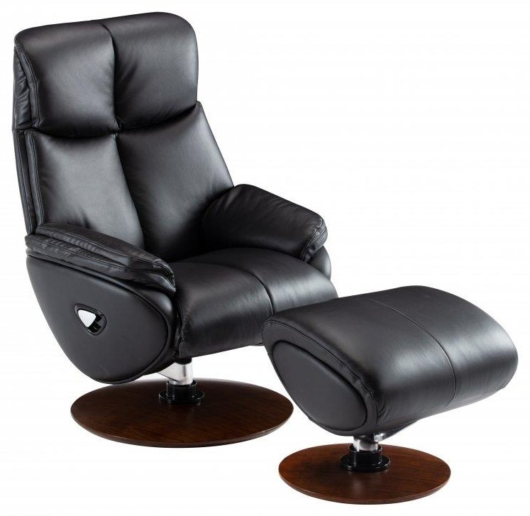 Pedestal Reclining Chair & Ottoman