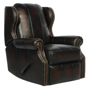 Bristol Bristol II Recliner with Rolled Arms and Modified Wing Back by Barcalounger