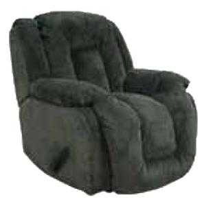 Casual Comfort Summit Rocker Recliner with Chaise Seating and Plush Body Support by Barcalounger
