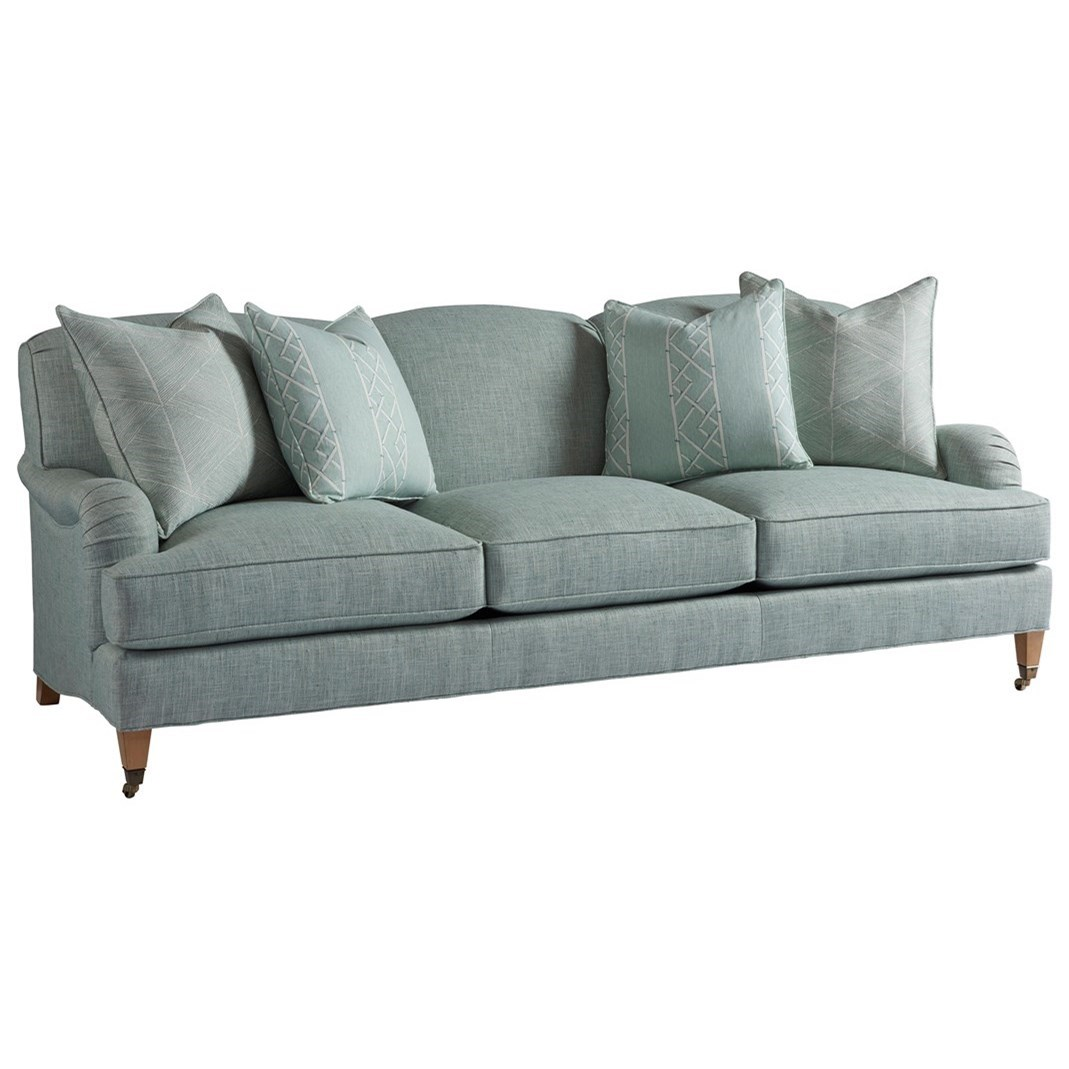 Barclay Butera Upholstery Sydney Sofa With Brass Casters by Barclay Butera at Baer's Furniture