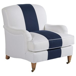 Barclay Butera Barclay Butera Upholstery Sydney Chair With Brass Caster