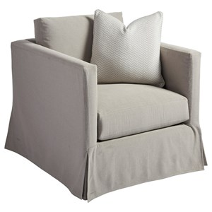 Barclay Butera Barclay Butera Upholstery Marina Gray Slipcover Chair