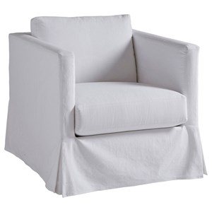 Barclay Butera Barclay Butera Upholstery Marina White Slipcover Chair