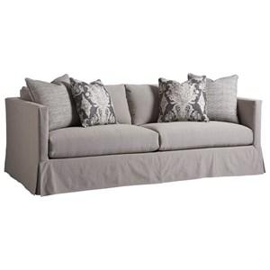 Barclay Butera Barclay Butera Upholstery Marina Gray Slipcover Sofa