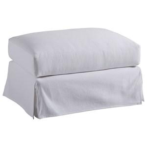 Barclay Butera Barclay Butera Upholstery Marina White Slipcover Ottoman