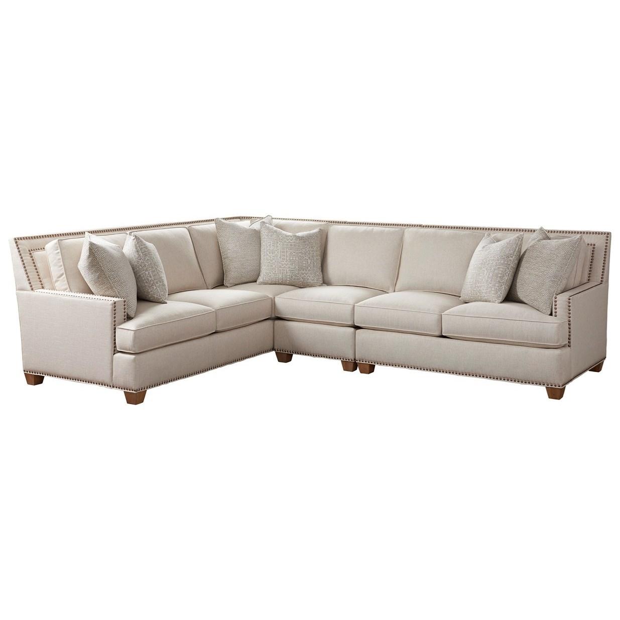 Barclay Butera Upholstery Morgan 3 Pc Sectional by Barclay Butera at Baer's Furniture