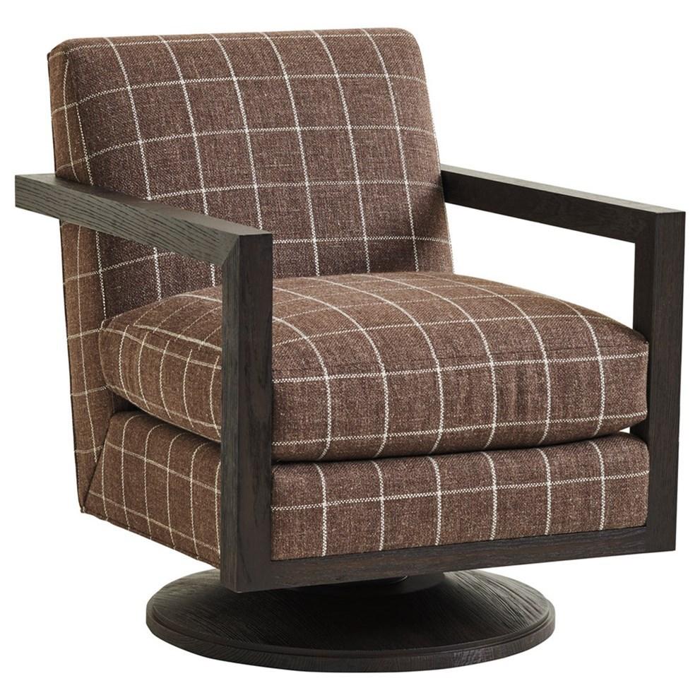 Barclay Butera Upholstery Willa Swivel Chair by Barclay Butera at Baer's Furniture