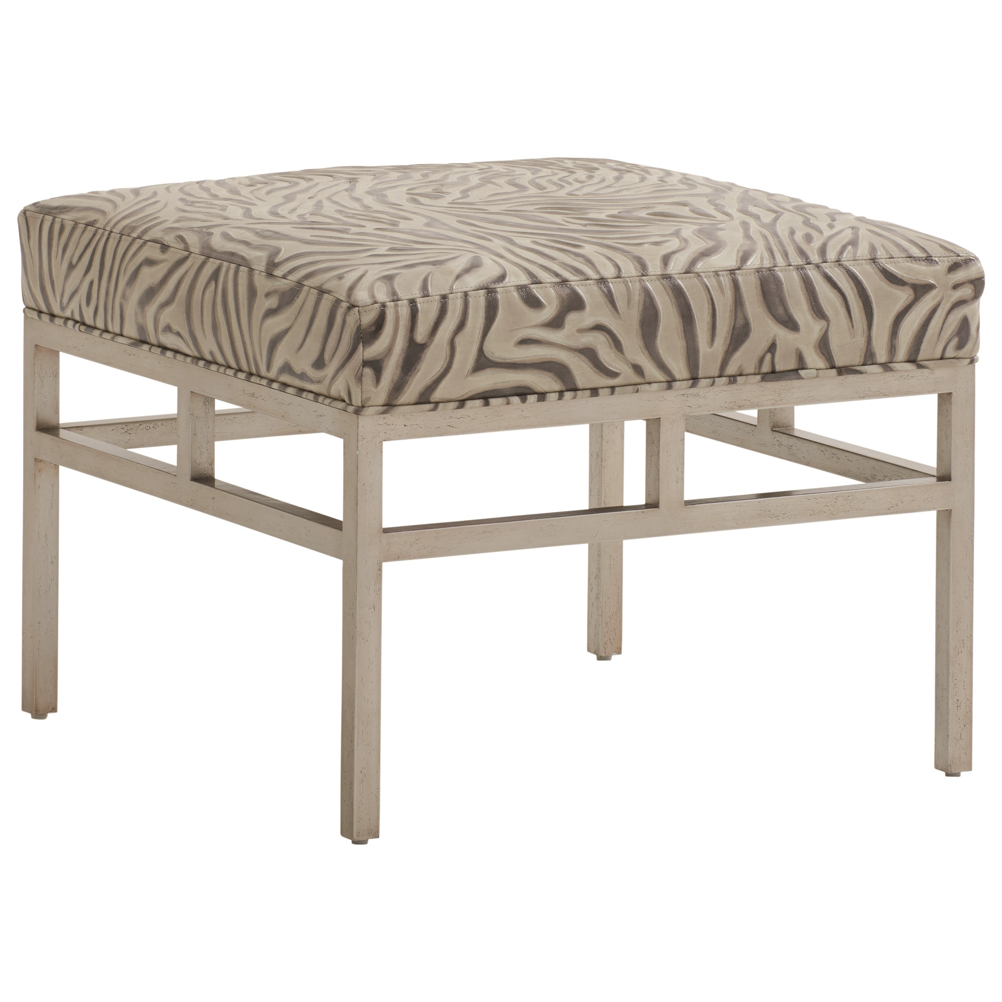 Barclay Butera Upholstery Lucca Metal Ottoman by Barclay Butera at Baer's Furniture