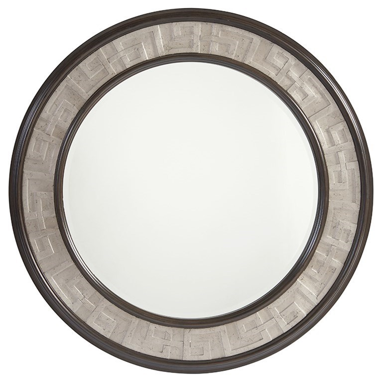 Brentwood Georgina Round Mirror by Barclay Butera at Baer's Furniture
