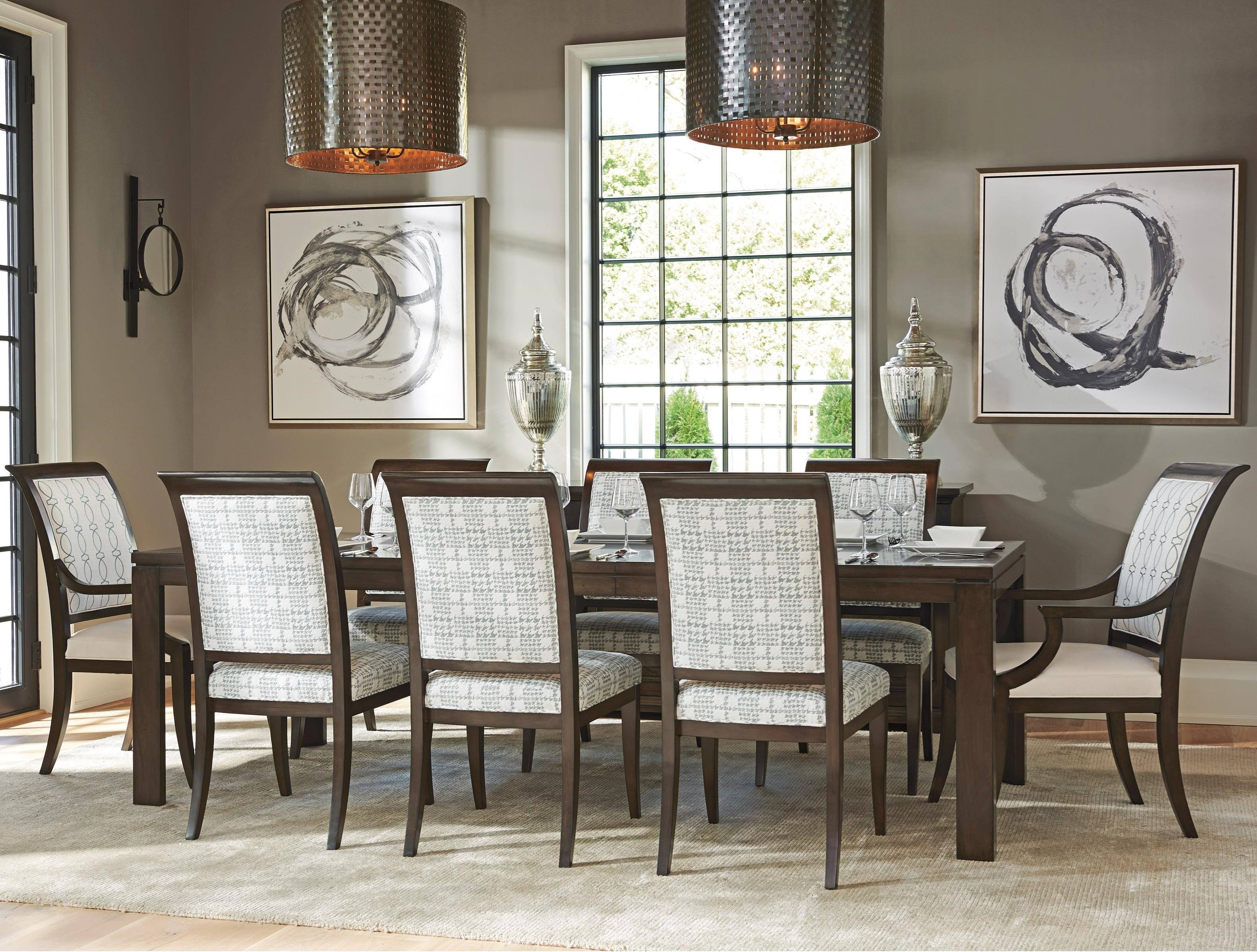 Brentwood 9 Pc Dining Set by Barclay Butera at Baer's Furniture