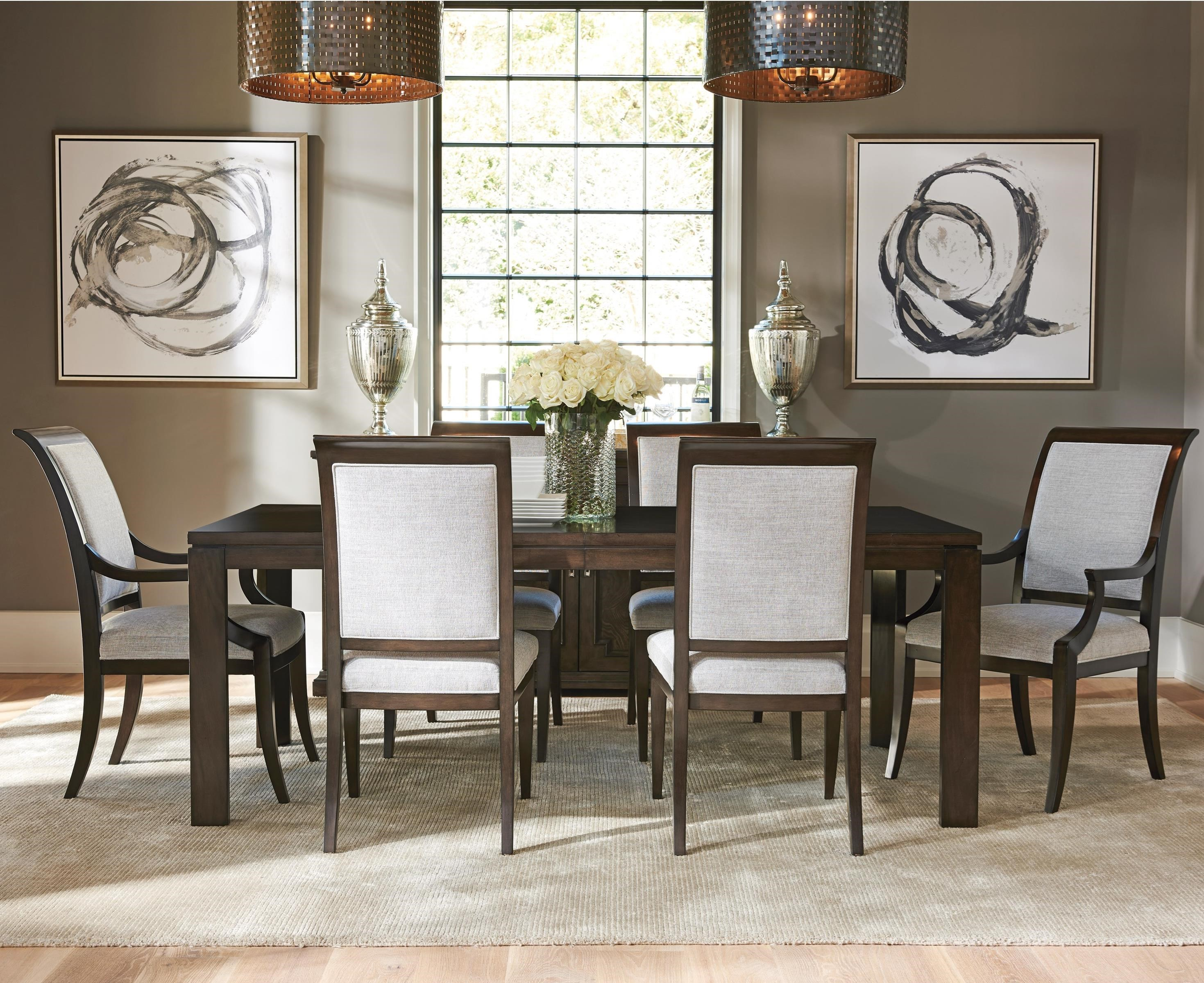 Barclay Butera Brentwood 7 Pc Dining Set - Item Number: 915-877+2X881-01+4X880-01