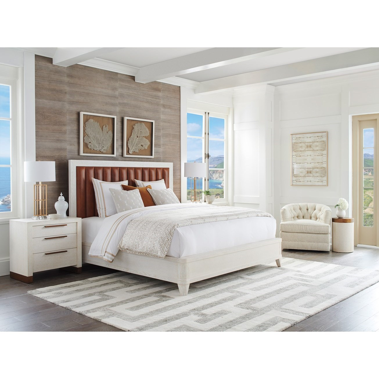 Carmel King Bedroom Group by Barclay Butera at Baer's Furniture