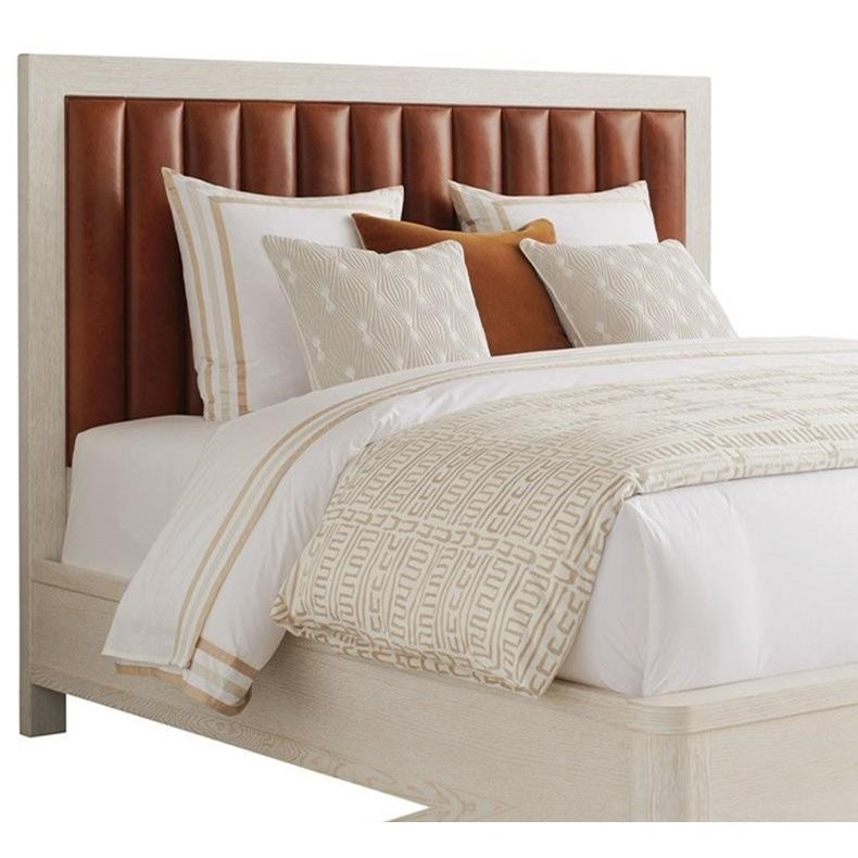 Carmel Cambria Upholstered Headboard 5/0 Queen by Barclay Butera at Baer's Furniture