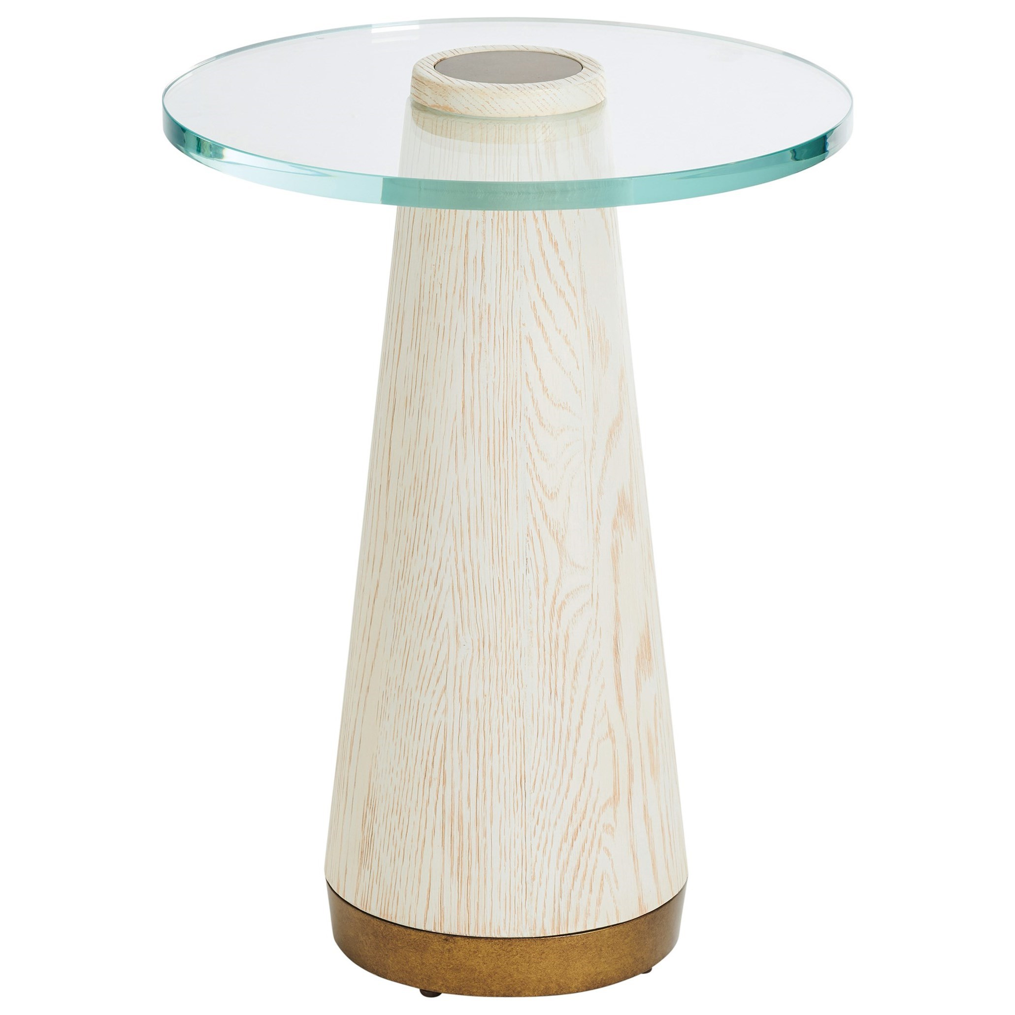 Carmel Castlewood Glass Top Accent Table by Barclay Butera at Baer's Furniture