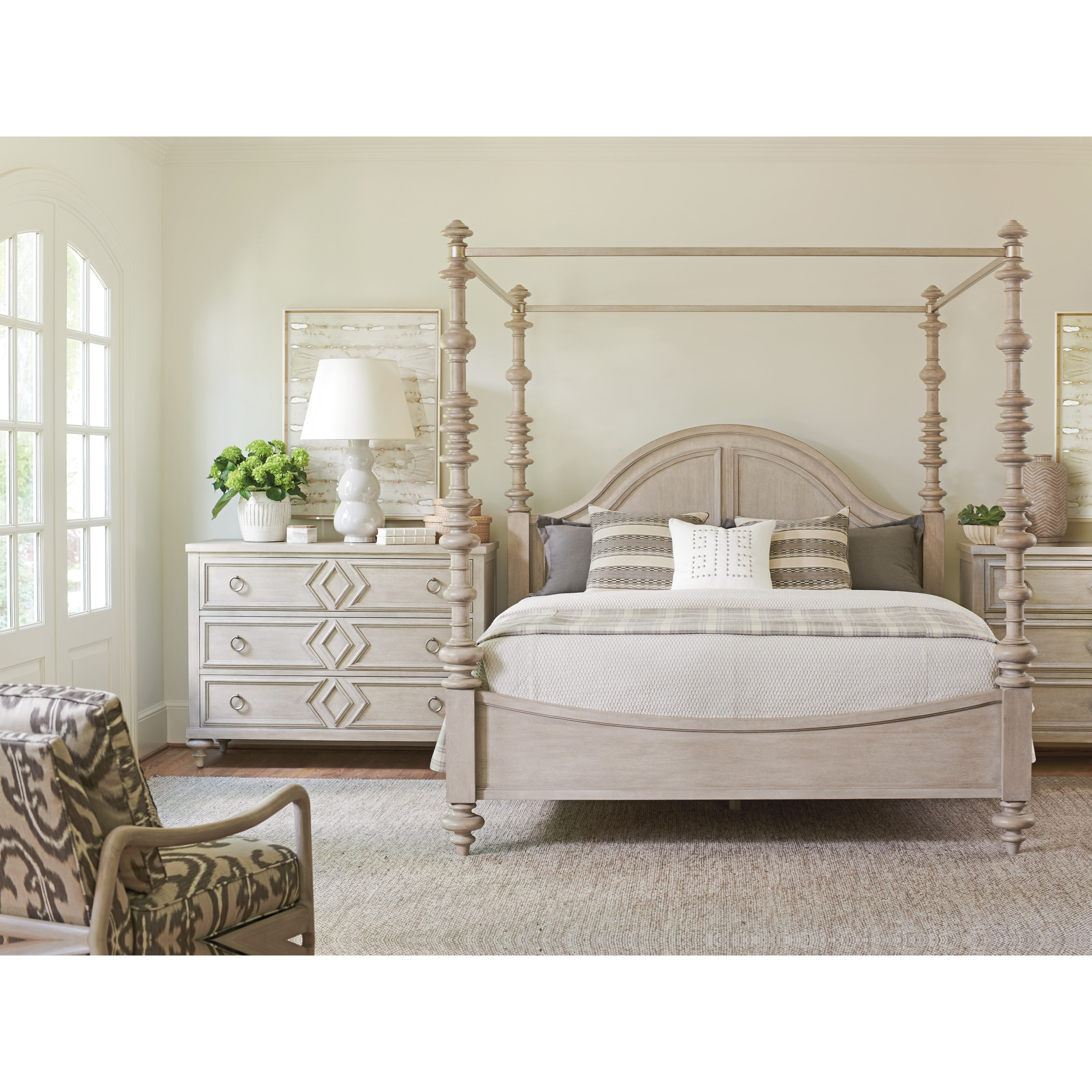 Malibu Queen Bedroom Group by Barclay Butera at Baer's Furniture