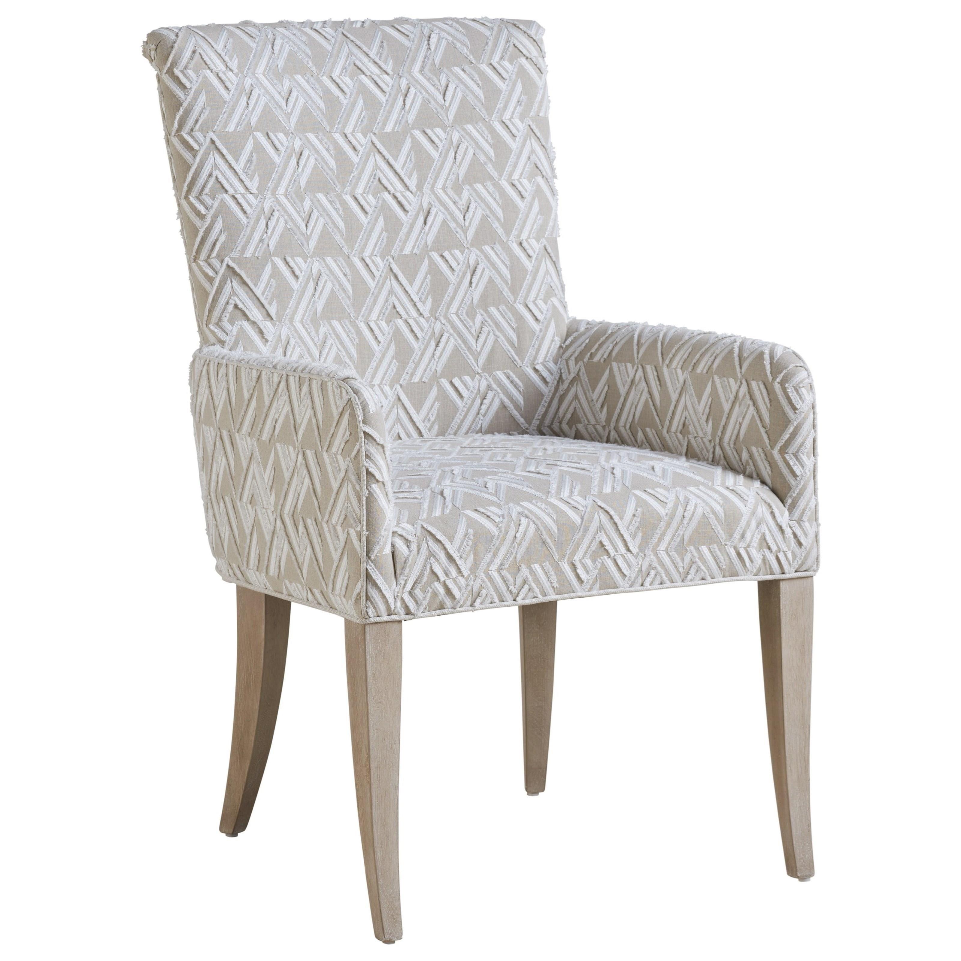 Malibu Serra Upholstered Arm Chair by Barclay Butera at Baer's Furniture