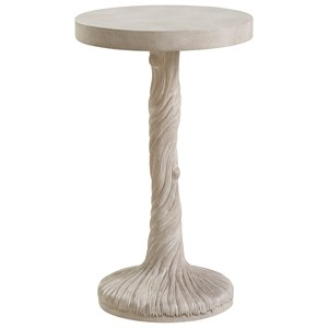 Saddle Peak Round Accent Table