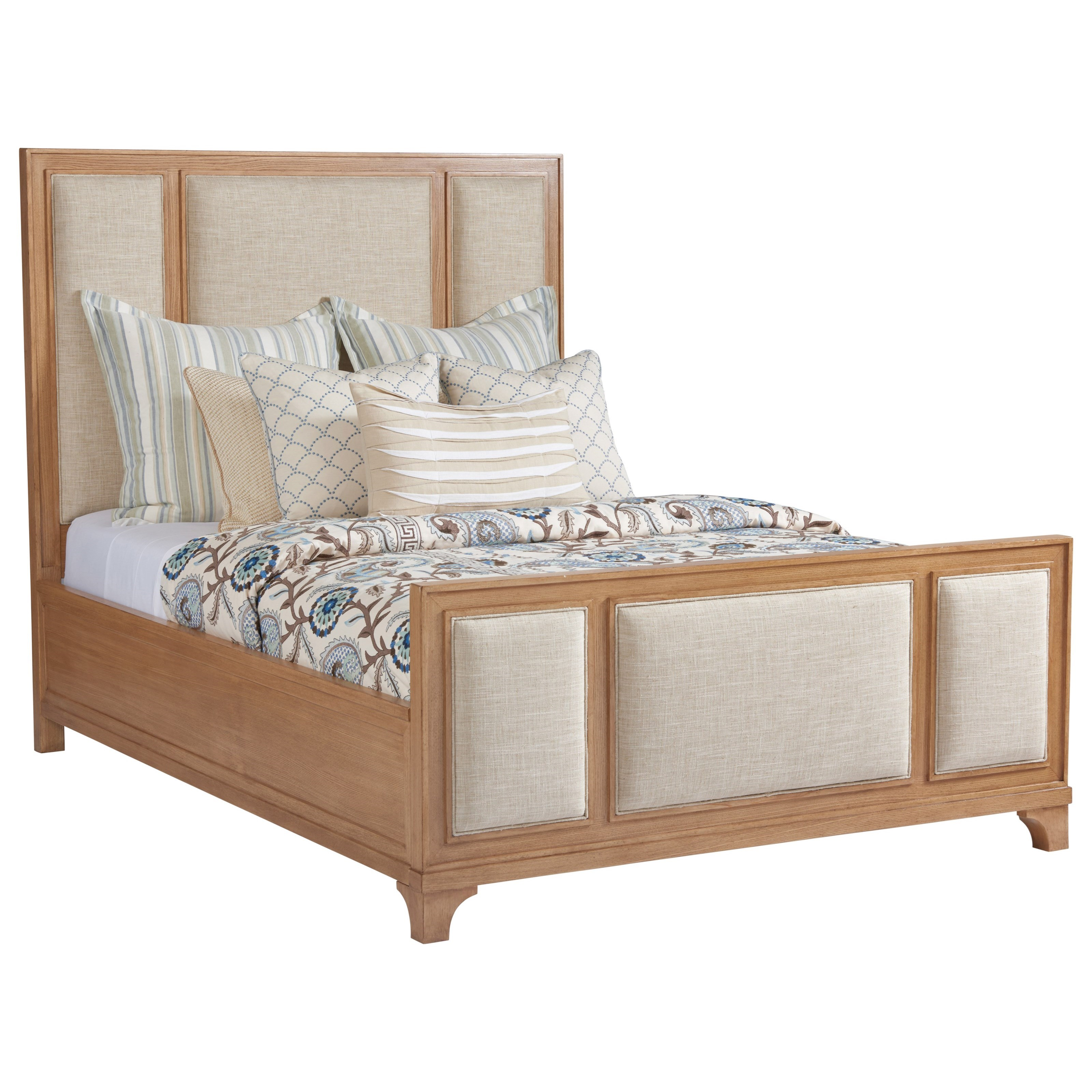 Barclay Butera Newport Crystal Cove Upholstered Panel Bed 5/0 Queen - Item Number: 920-133C