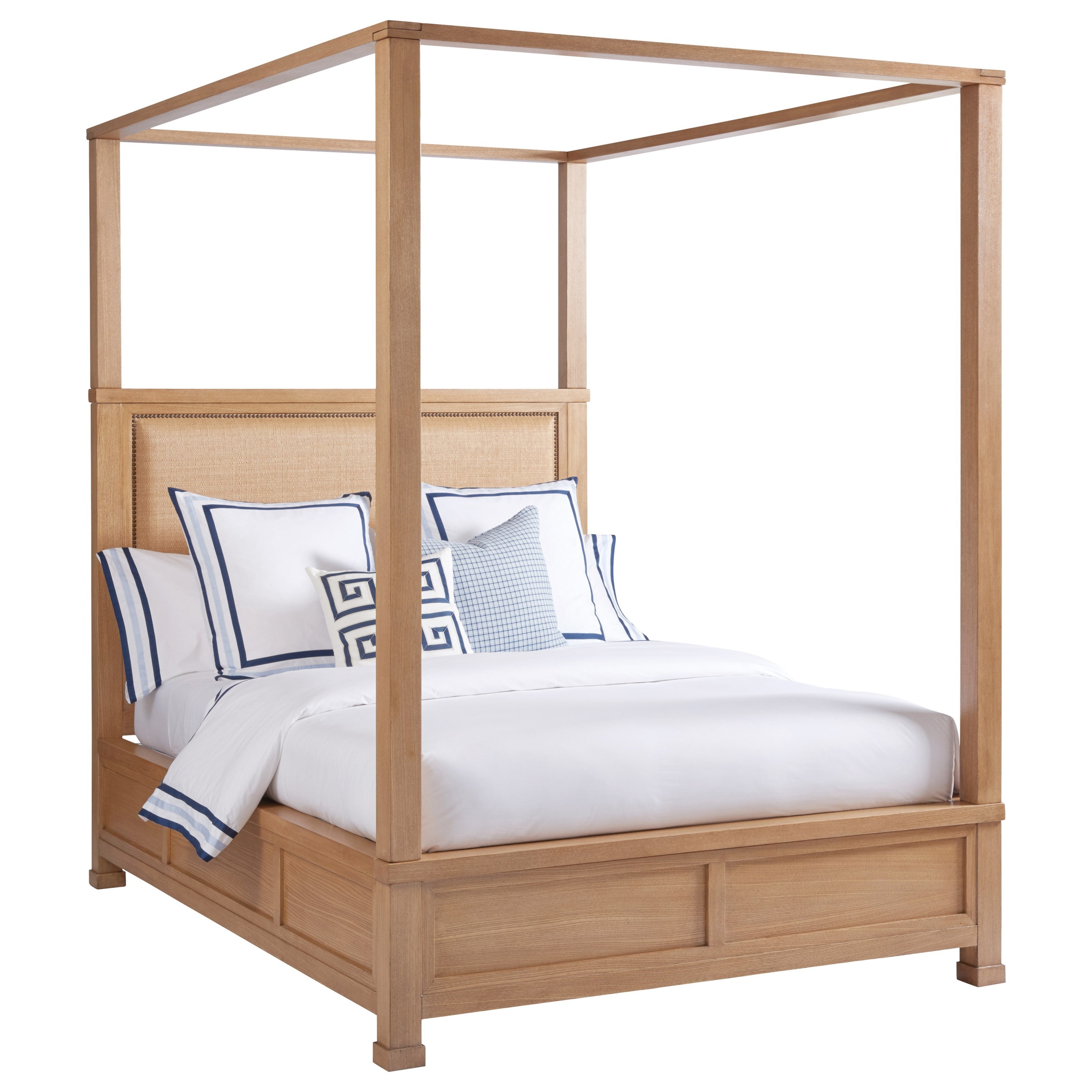 Picture of: Barclay Butera Newport Shorecliff California King Size Canopy Bed With Headboard Upholstered Belfort Furniture Canopy Beds