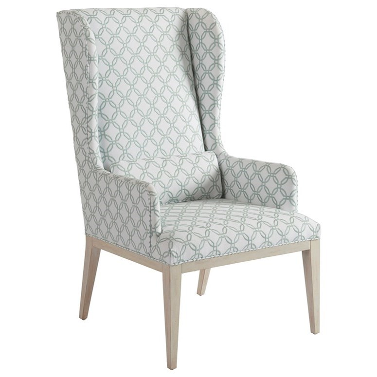 Newport Seacliff Host Wing Chair by Barclay Butera at Baer's Furniture