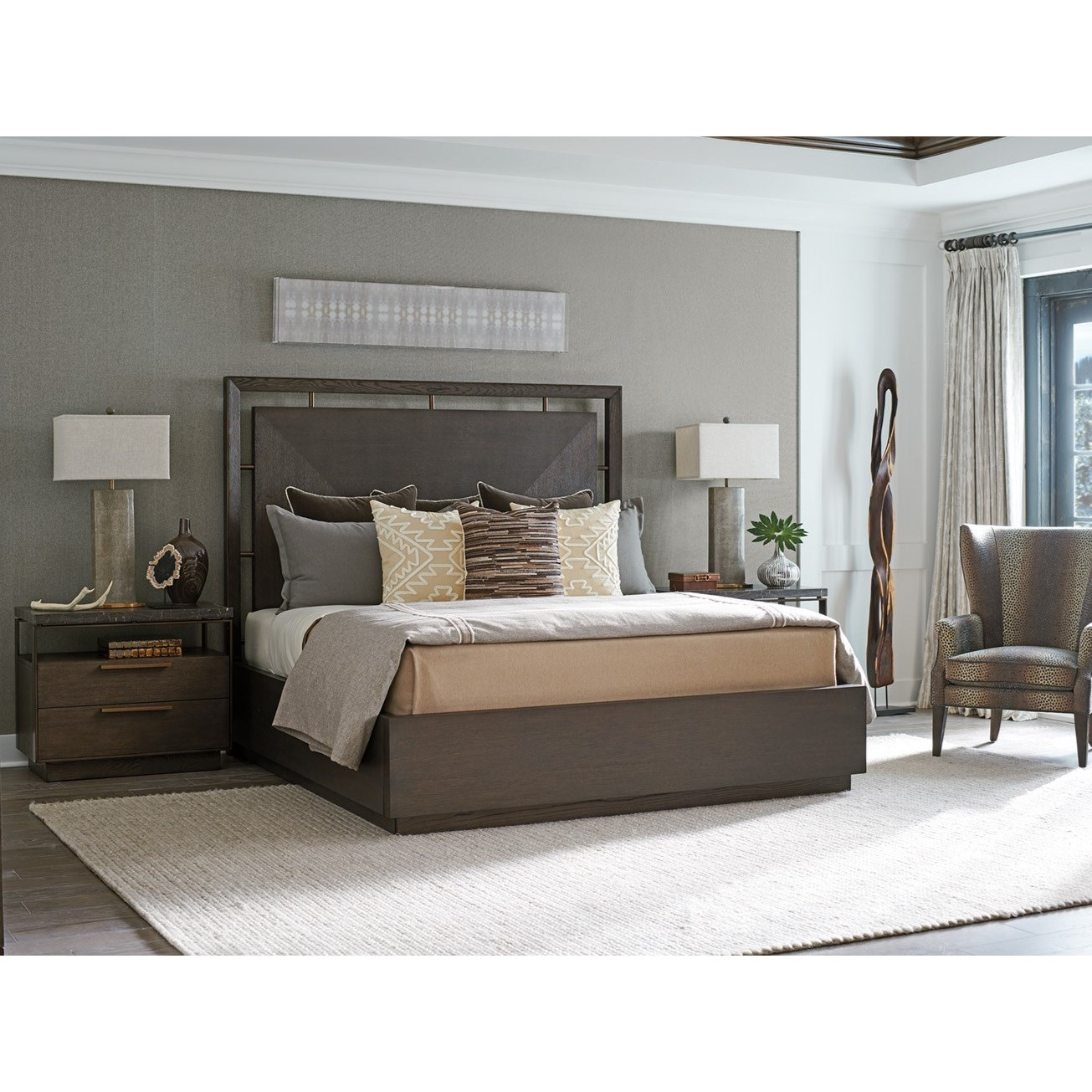 Park City King Bedroom Group by Barclay Butera at Baer's Furniture