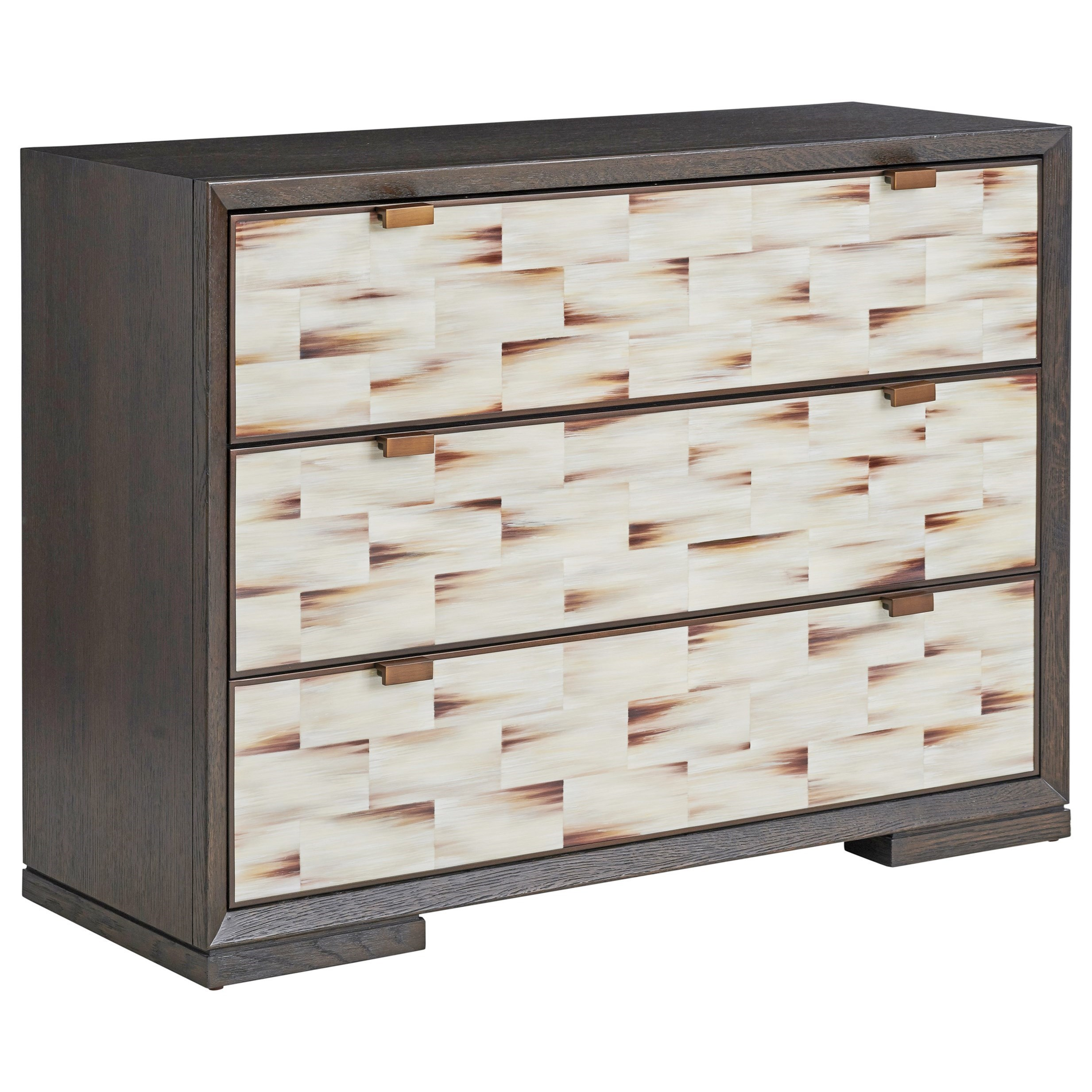 Barclay Butera Park City Juniper Hall Chest With Faux Horn Drawer Fronts Belfort Furniture Dressers