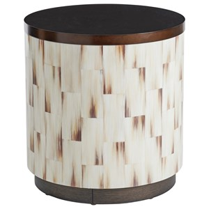 Crescent Commode End Table